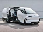 Minivanul electric Porsche Vision Renndienst