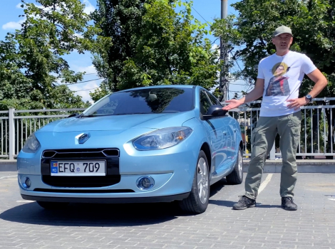 O mașină electrică rară în Moldova - Renault Fluence Z.E.